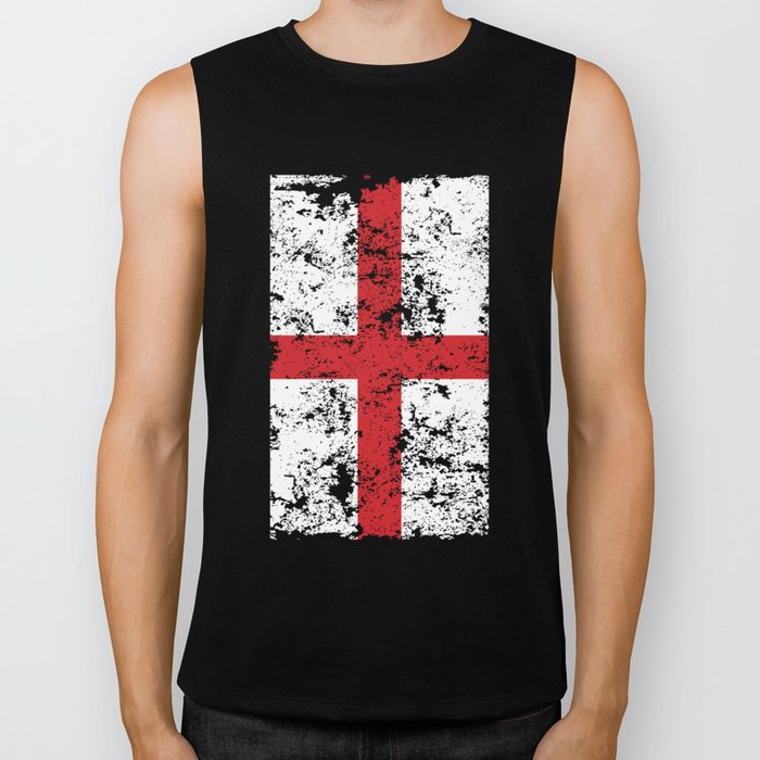 Union Jack Faded London Flag Biker Tank
