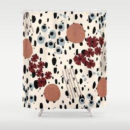 Cheetah Floral Shower Curtain