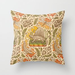Daydream Dimetrodon Throw Pillow