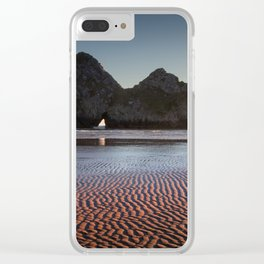 Three Cliffs Bay Gower peninsula Clear iPhone Case