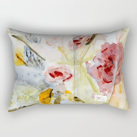 fragmented view Rectangular Pillow