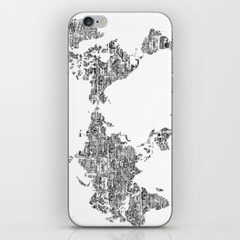 Passport Stamp Map 1 iPhone Skin