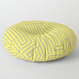 Art Deco Pattern 2 V2 Pantone 2021 Color Of The Year Illuminating and Ultimate Gray  Floor Pillow