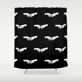 Fist Bump Shower Curtain