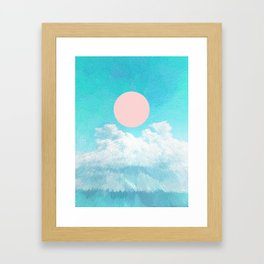Adventure through the icy clouds Framed Art Print