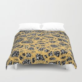 Abstract Beehive Yellow & Black Pattern Duvet Cover