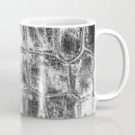 Alligator Skin // Black and White Worn Textured Pattern Animal Print Coffee Mug