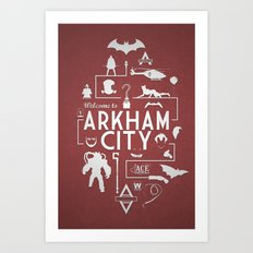 Welcome To Arkham City Art Print