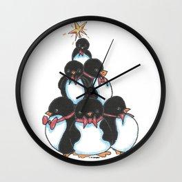 Penguin Tree Wall Clock