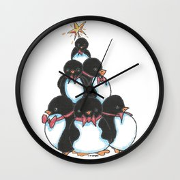 Penguin Tree Wall Clock