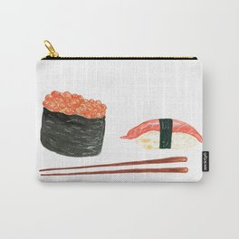 Watercolor Sushi Rolls And Chopsticks Carry-All Pouch