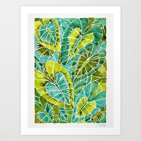 Schismatoglottis Calyptrata – Green Palette Art Print
