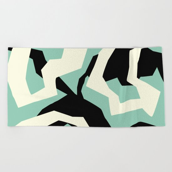 Camouflage:RAW Beach Towel