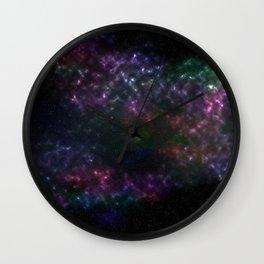 Violet Stars Wall Clock
