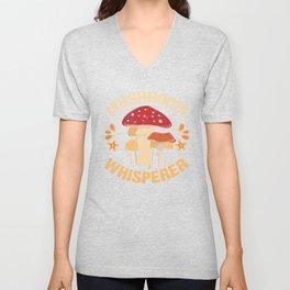 Mushroom Whisperer Unisex V-Neck