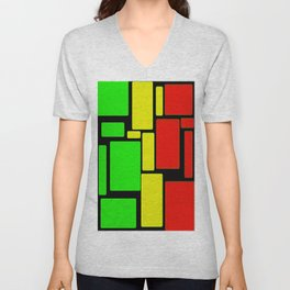 Ghanaian colors Unisex V-Neck