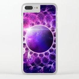 Deep Dream Fractal Mandala - Deep Space Galaxy Dreamer Clear iPhone Case