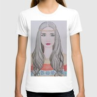 nordic T-shirts featuring Nordic Girl by snowfairy