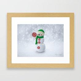 Holiday Snowman Framed Art Print