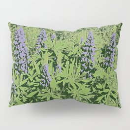 Wildflowers Lupine In Summer | Nature Photography Pillow Sham