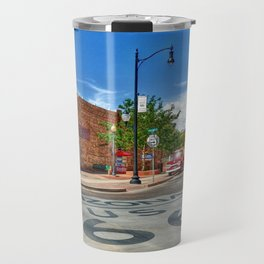 Standin on the Corner Route 66 in USA Travel Mug