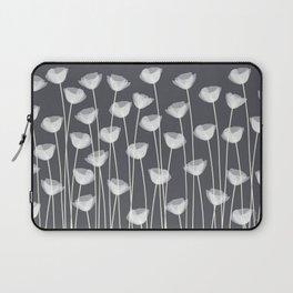 White Poppies Laptop Sleeve
