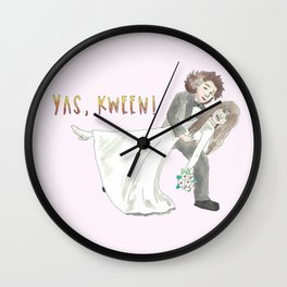 Yas, Kween! Wall Clock