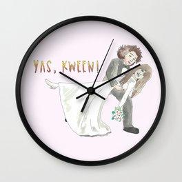 Yas, Kween! Wall Clock