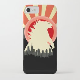 """""""May Godzilla destroy this home last"""" Classic Movie Poster iPhone Case"""
