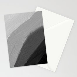 Monochromatic disk Gradient Black Stationery Cards