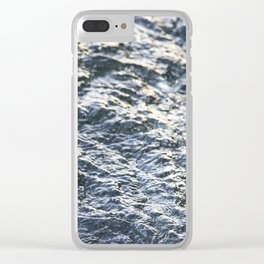 The Sunset Blues Clear iPhone Case