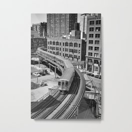 Brown Line Metal Print