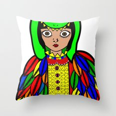 Quetzacoatl Throw Pillow