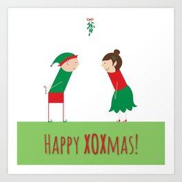Happy XOXmas Art Print