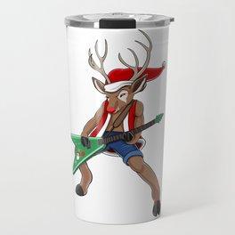 Christmas Rock Reindeer Travel Mug