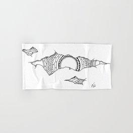 Ripped Mandala Hand & Bath Towel