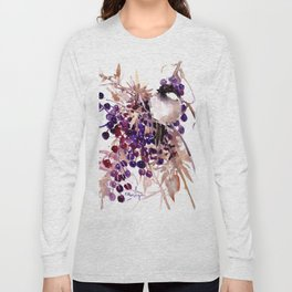 Chickadee in the Fall, number one Long Sleeve T-shirt
