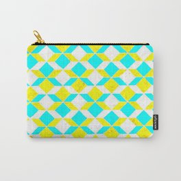 Turquoise & Yellow Diamonds Inverted Carry-All Pouch