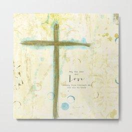 Let His Love Freely Flow Metal Print