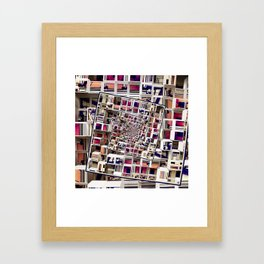 White House With Spinning 3D Cubes Framed Art Print