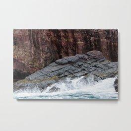 Wave and Rock Metal Print