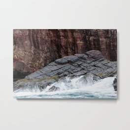 Wave and Rock Metal Print