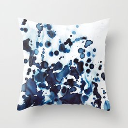 Large waves and sea spray. Throw Pillow