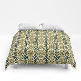 Geometrical flowers Comforters
