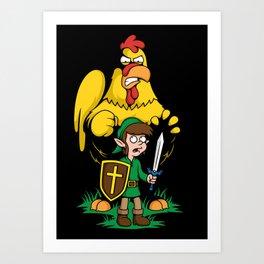 The Legend of Ernie (dark background) Art Print