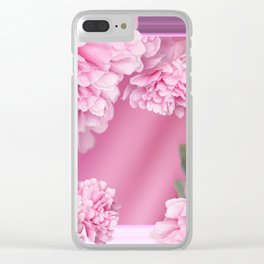 Pink Peonies In Frame #decor #society6 #buyart Clear iPhone Case