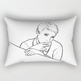 Blue Eyes Rectangular Pillow