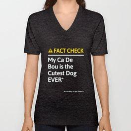 Ca De Bou Dog Funny Fact Check Unisex V-Neck