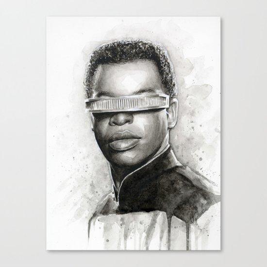 Geordi La Forge Star Trek Art Canvas Print