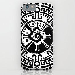 Hunab Ku Mayan symbol black and white #3 iPhone Case